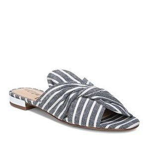 NWOB Sam Edelman Darian Striped Slide Sandals 6.5
